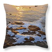 Ice Rocks Throw Pillow