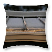 Ice Roof Throw Pillow