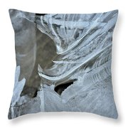 Ice Curves Throw Pillow