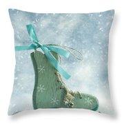 Ice Skate Decoration Throw Pillow