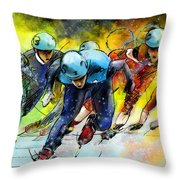 Ice Speed Skating 01 Throw Pillow
