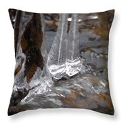 Ice Stream Creations Throw Pillow