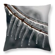 Ice Teeth Throw Pillow