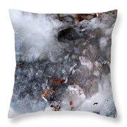Ice Transformation Vii Throw Pillow