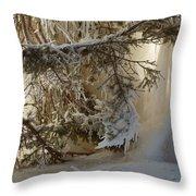 Ice Wall Throw Pillow
