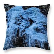 Ice Waterfall Throw Pillow