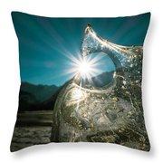 Ice With Sunburst Throw Pillow