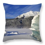 Iceberg And Mount Mcginnis Throw Pillow