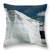 Iceberg At Cape Hallett Antarctica Throw Pillow
