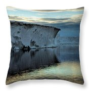 Iceberg In The Ross Sea At Night Throw Pillow