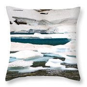 Icebergs In August Glacier International Peace Park Throw Pillow