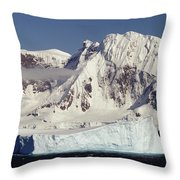 Icebergs Northern Tip Of The Antarctic Throw Pillow