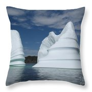 Icebergs Throw Pillow