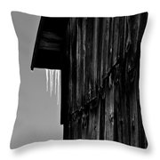 Iced Barn Throw Pillow