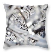 Iced Branches Throw Pillow