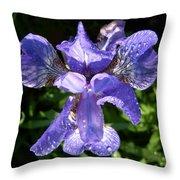 Iced Iris Throw Pillow