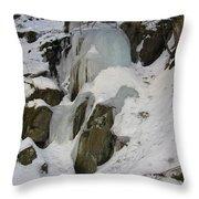 Iced Rocks Throw Pillow