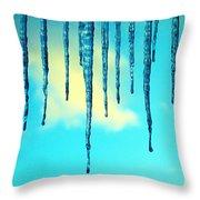 Iced Sky Throw Pillow
