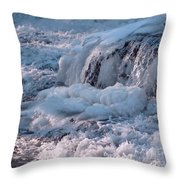 Iced Water Throw Pillow