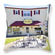 Icehouse Waterfront Restaurant 3 Throw Pillow