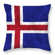 Iceland Flag Throw Pillow