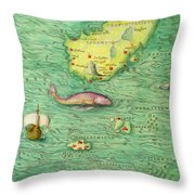 Iceland, From An Atlas Of The World In 33 Maps, Venice, 1st September 1553 Throw Pillow