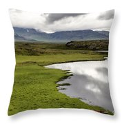 Iceland Landscape Throw Pillow