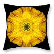 Iceland Poppy Flower Mandala Throw Pillow by David J Bookbinder