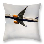Icelandair Boeing 757 Throw Pillow