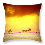 Wanna Live At The Magic Icelandic Countryside, At Least In The Summer  Throw Pillow