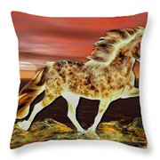 Icelandic On Fire Throw Pillow