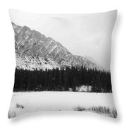 Icey Landscape Throw Pillow