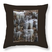 Icicle Cliffs Throw Pillow