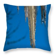 Icicles 1 Throw Pillow