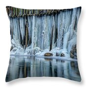 Icicles 2 Throw Pillow