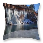 Icicles Throw Pillow
