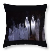 Icicles In A Cave Throw Pillow