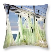 Icicles On The Catwalk Throw Pillow