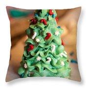 Icing Christmas Tree Throw Pillow