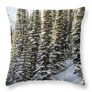 Icing On The Trees Throw Pillow
