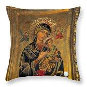 Icon In Marbella Church Throw Pillow