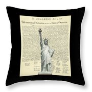Icon Of Freedom Throw Pillow