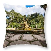 Iconic Fountain Throw Pillow