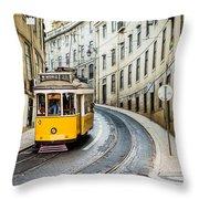 Iconic Lisbon Streetcar No. 28 IIi Throw Pillow