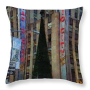 Iconic Radio City Throw Pillow