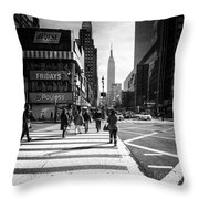 Icons Throw Pillow by John Farnan