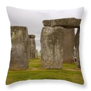 Icons Of Time In The Rain Throw Pillow