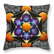 Icosahedron In A Metatron's Cube Throw Pillow