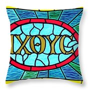 Icthus Sign Of The Fish Throw Pillow
