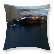 Icy Blues Throw Pillow